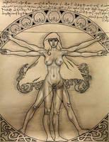 Vitruvian Woman by DavidRobertsArt