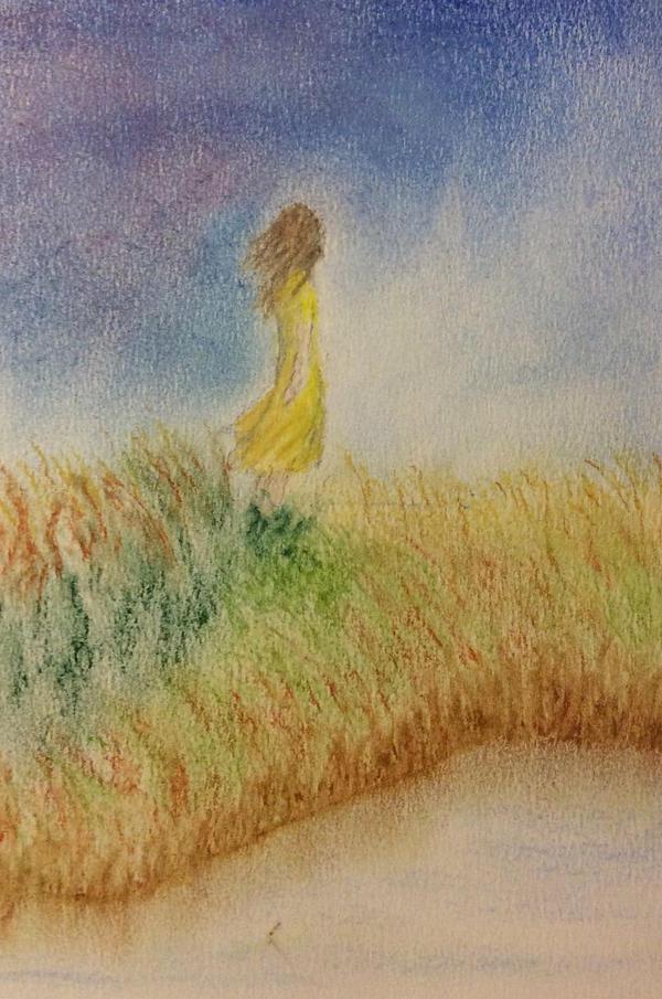 Girl by a pond. by Jennyben