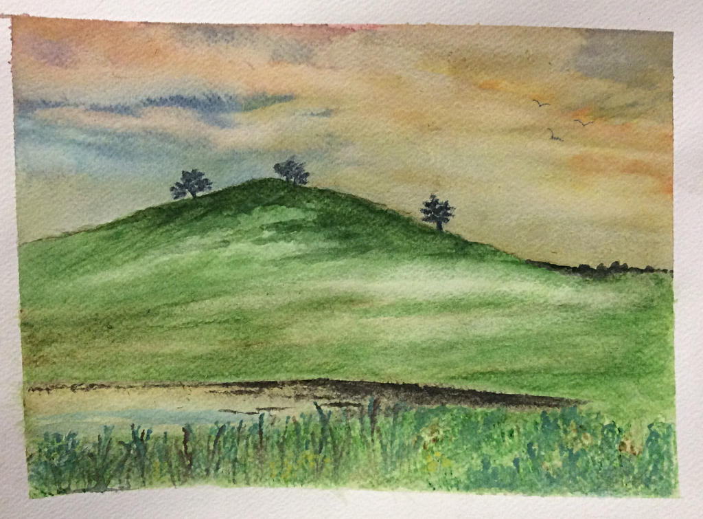 Trees on a hill by Jennyben