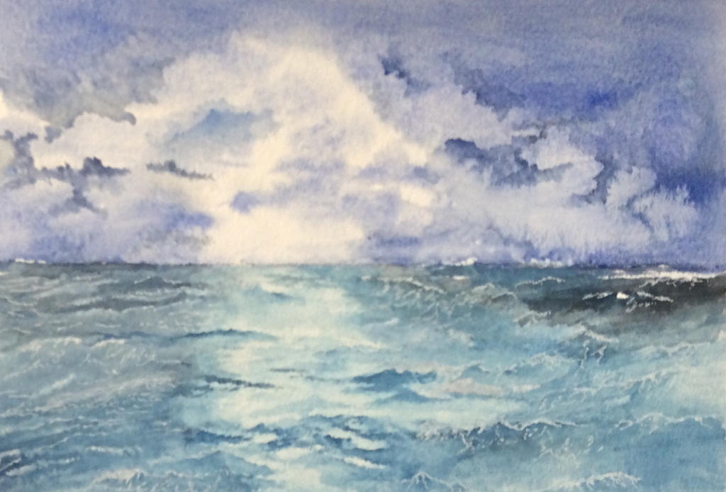 Stormy sea. by Jennyben