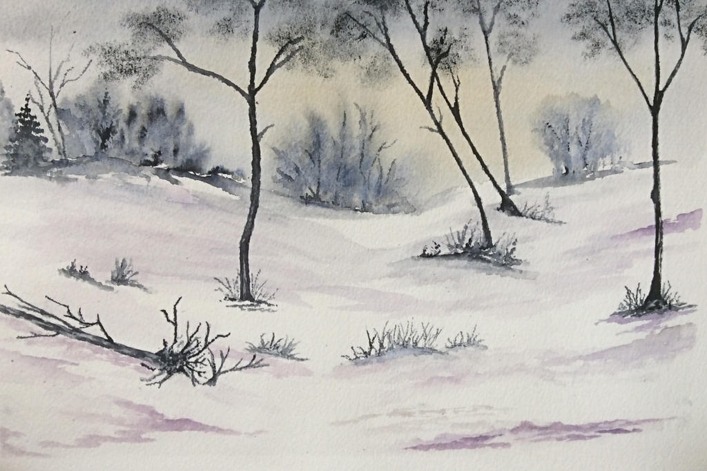 The Chase in winter by Jennyben