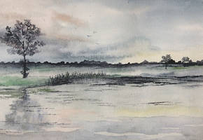 The Pond at Hopton by Jennyben