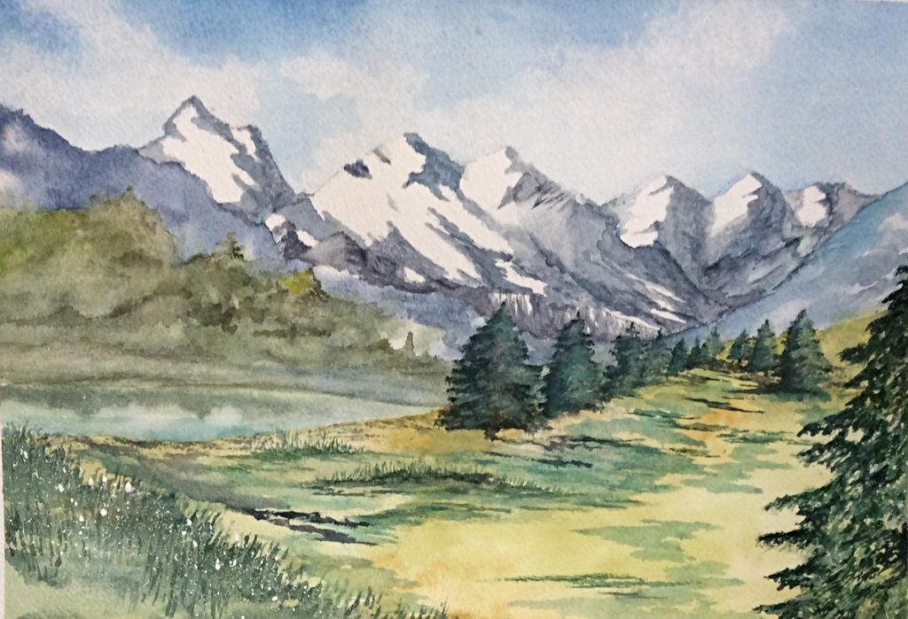 Mountain scape by Jennyben