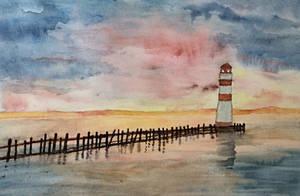 Wobbly lighthouse by Jennyben