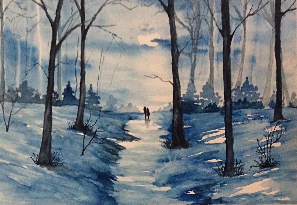 Walking in the moonlight by Jennyben