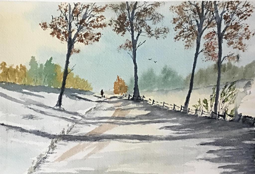 Walking the dog by Jennyben