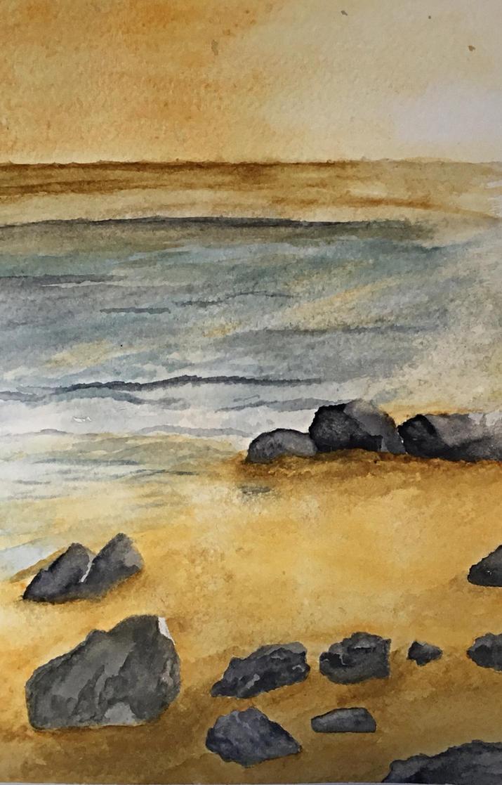 Stony Beach. by Jennyben