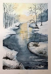 Winter River by Jennyben