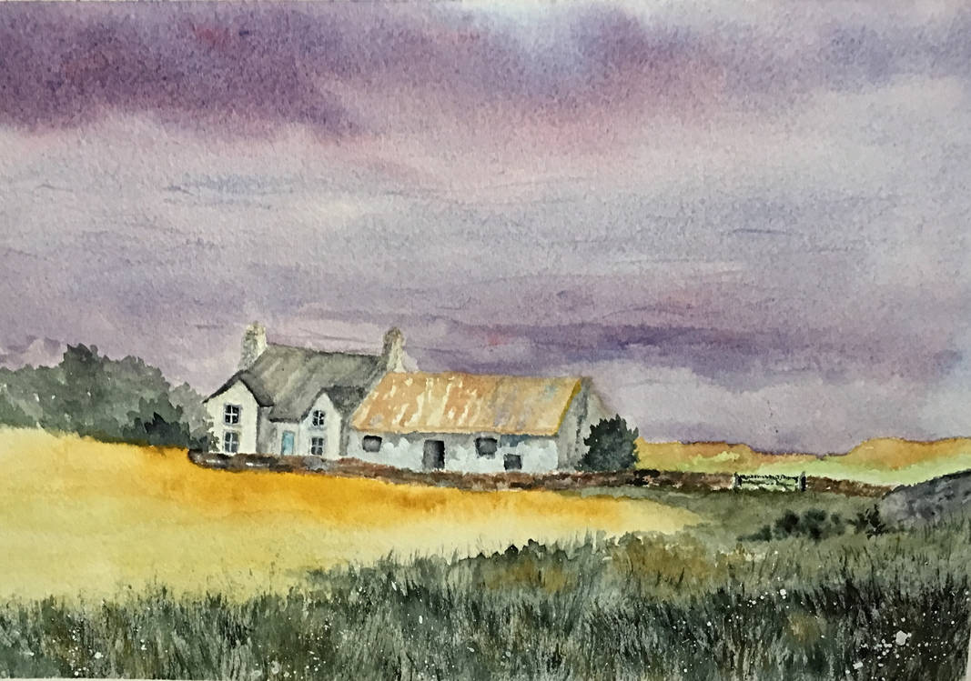 farmhouse and barn by Jennyben