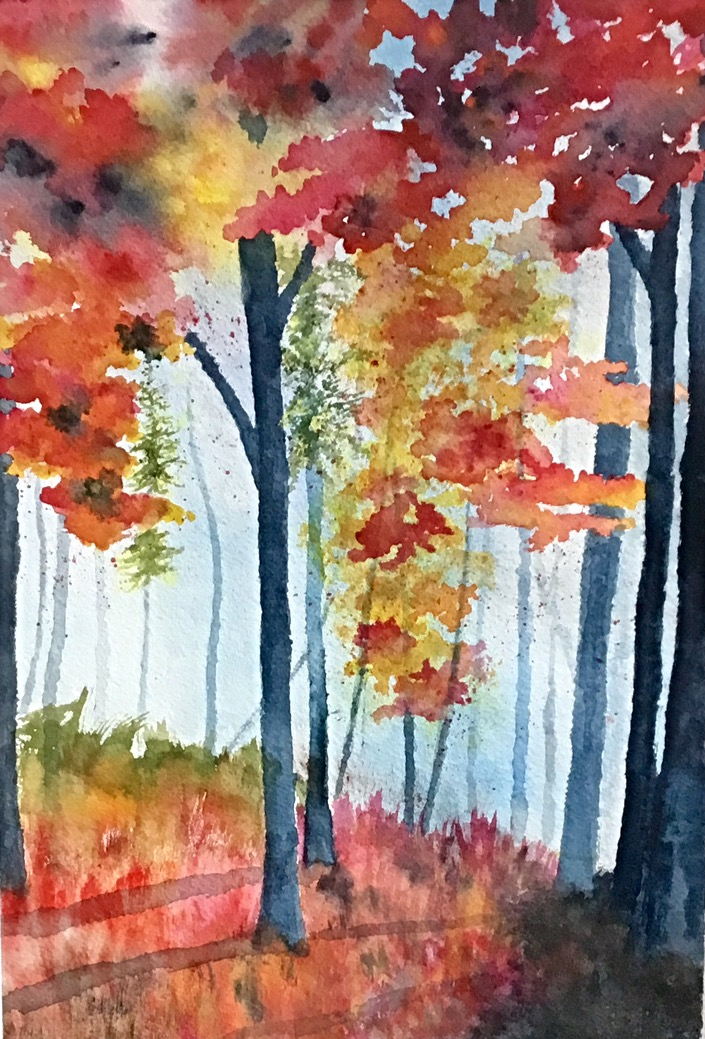Colourful Woodland by Jennyben