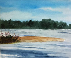 Sand Bank.  Watercolour