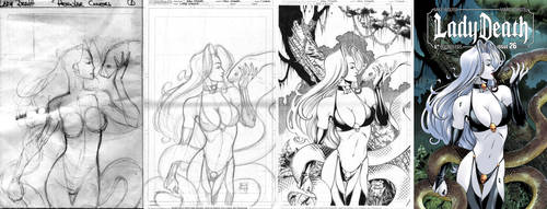 LADY DEATH #26 cover STEP-BY-STEP