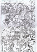 JLA TRINITY vs GALACTUS new version page1 by PowRodrix