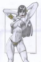 Vampirella pinup 4 SALE by PowRodrix