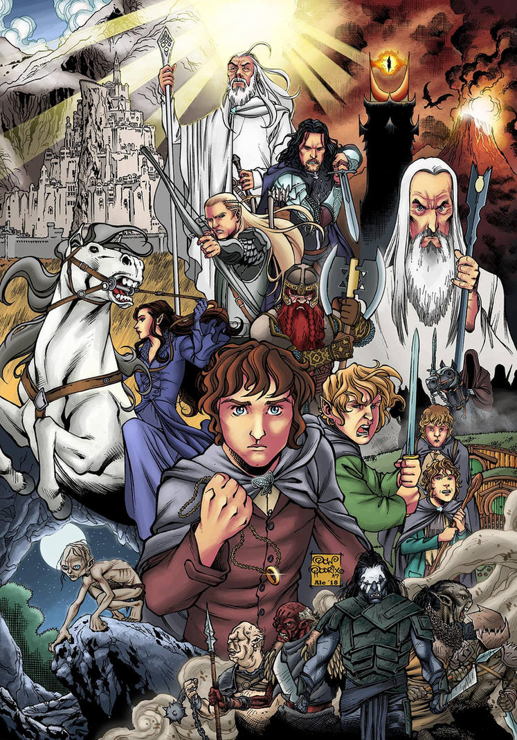 THE LORD OF THE RINGS fanart in colors by PowRodrix