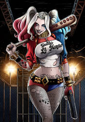 HARLEY QUINN UNLEASHED in colors by PowRodrix