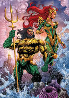 AQUAMAN and MERA by PowRodrix