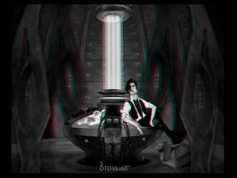 Matt Smith in the Tardis in 3D by dtdstudio