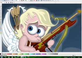 Close-up WIP Crime Scene Cupid