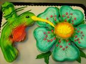 Hummingbird Cupcake Cake by AingelCakes