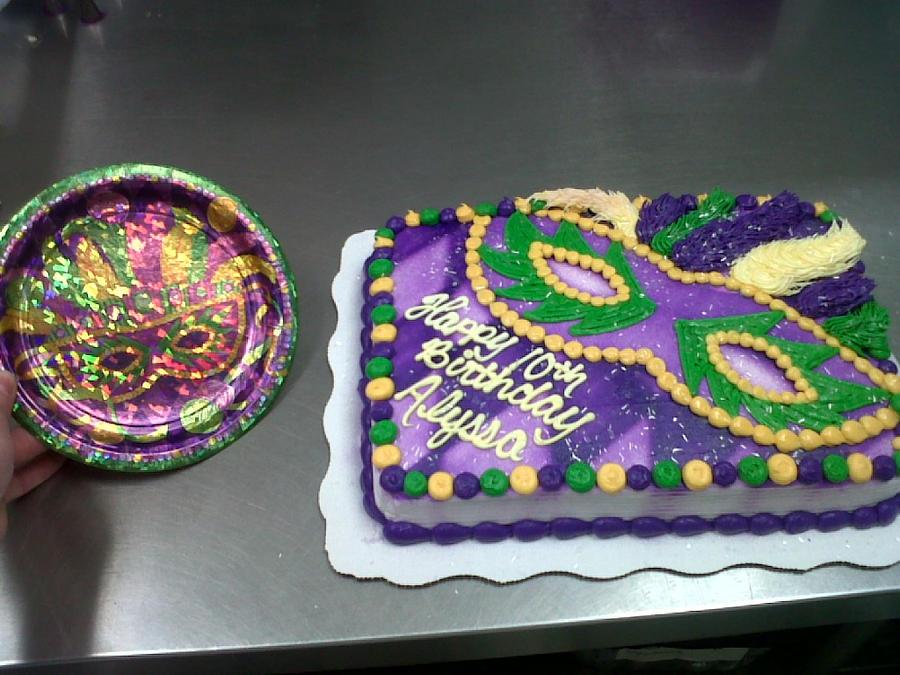 Pin 3d Mardi Gras Themed Birthday Cake By Crystalmemories ...