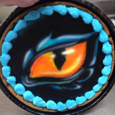 Dragon eye cookie by AingelCakes