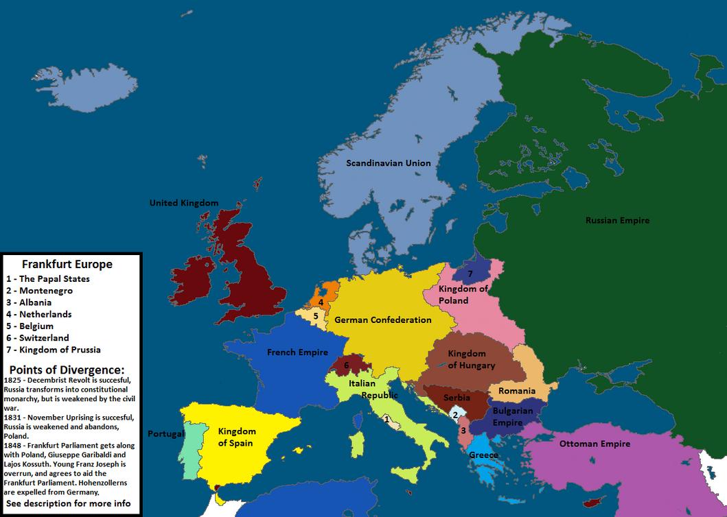 Frankfurt Europe - alternate history map by ZehirAhsen on DeviantArt
