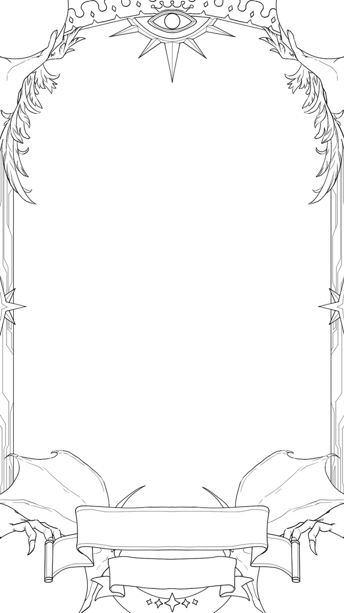 tarot  trading card template by absintheismysoul on deviantart