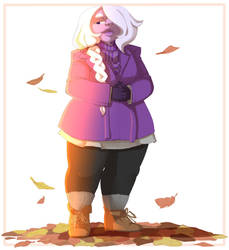 30 Days of Amethyst: Day 4: Fall Fashion by kyoukorpse