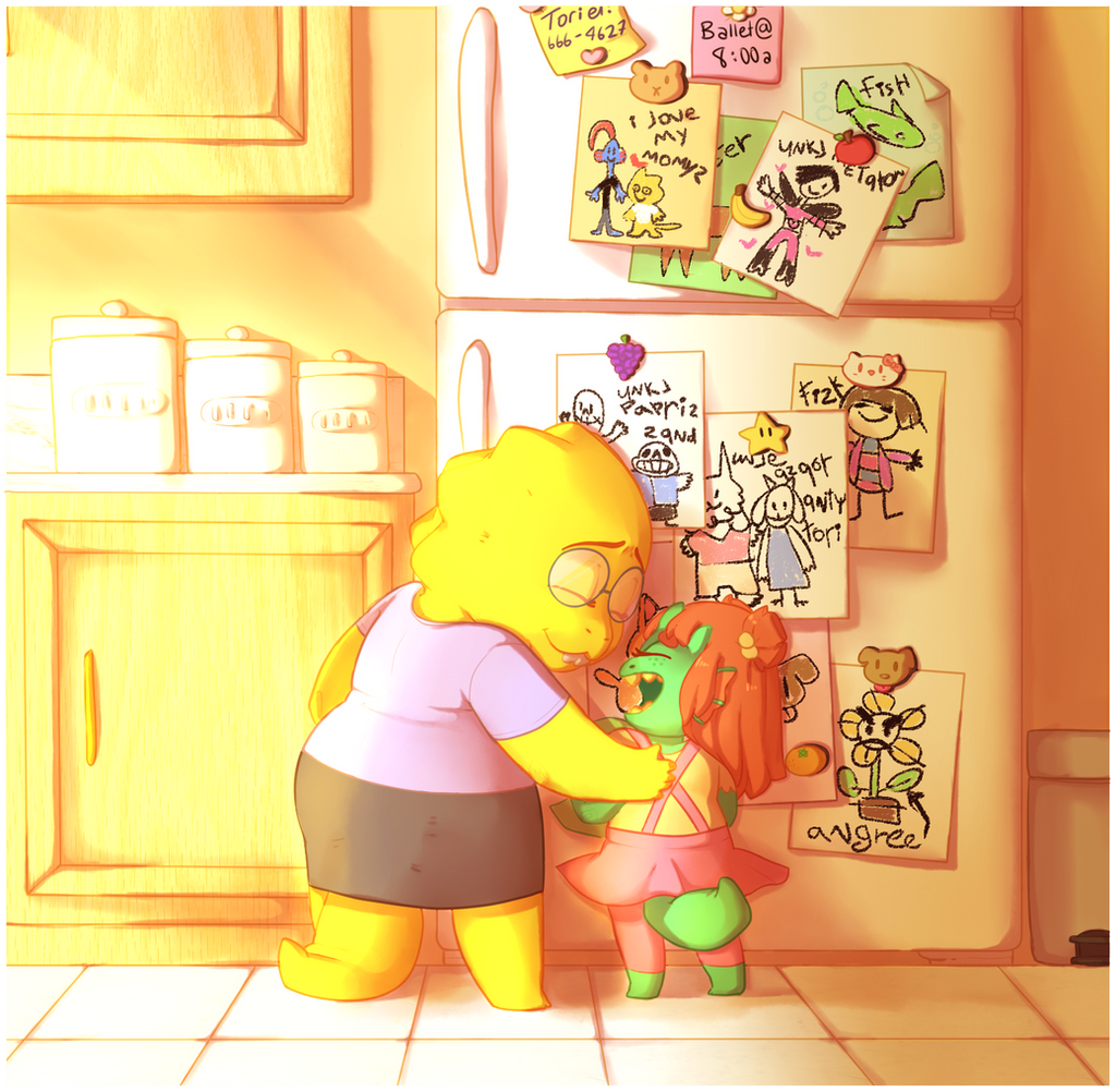 Drawings on the Fridge by kyoukorpse
