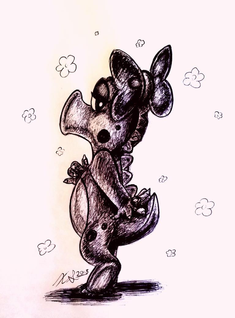 Birdo - Ink Sketch by lefthandlover