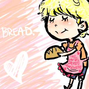 The Hunger Games: Peeta bread. by llefto