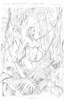 Jungle Girl aka Machete - pencils by artofadamlumb