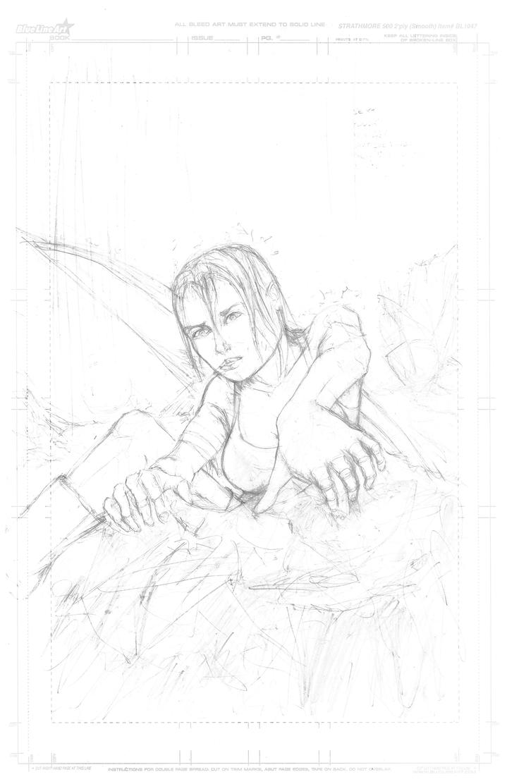 Scribble Stage Of Drawing : Tomb raider reborn making of stage scribble by