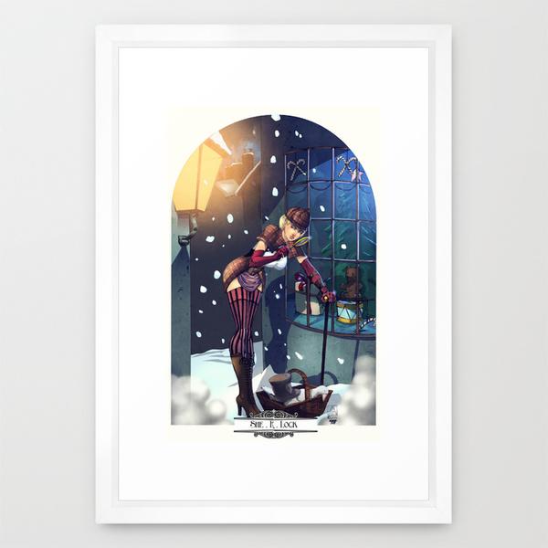 Female Sherlock Art Print for Christmas 2015 by artofadamlumb