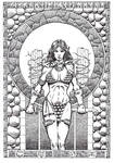 Red Sonja - Temple - Pencils Adam Lumb and Inks by