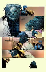 Xmen Colours - Beast, Wolverine, Captain America by artofadamlumb