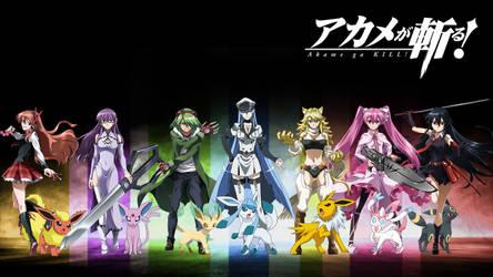 Akame Ga Kill Pokemon Crossover by Luna-Sirens