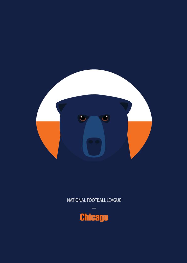 Chicago Bears Postcard by inkoutofthebox