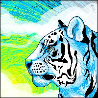 Tiger at Sunrise by Kennaleecat