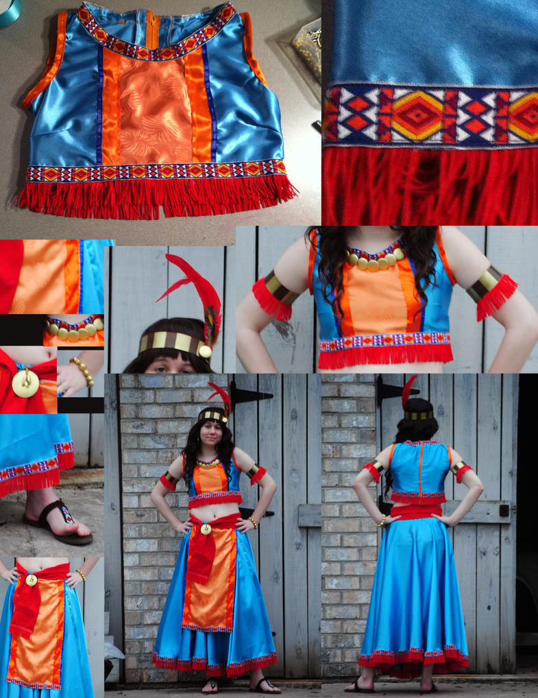 Aztec Princess Stage Costume- Final by KennadeeK