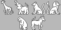 6 Pixel Bases -Zoo Animals- Downloadable content by Kennaleecat