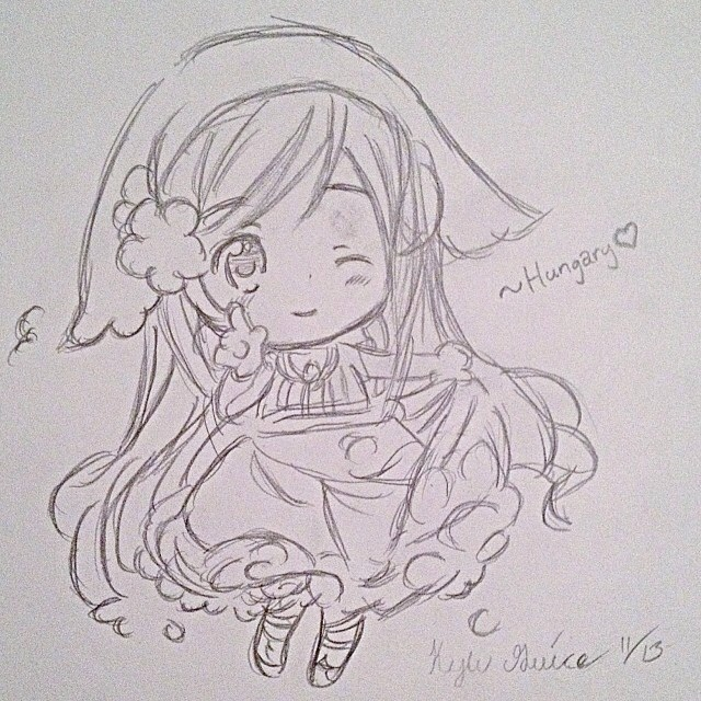 Anime chibi drawing by tantasha