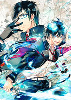 AO-no-Exorcist- exorcist x 2 by R-jing