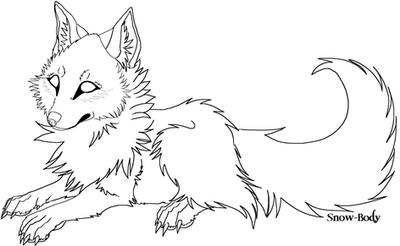 LINEART Canine by Snow-Body