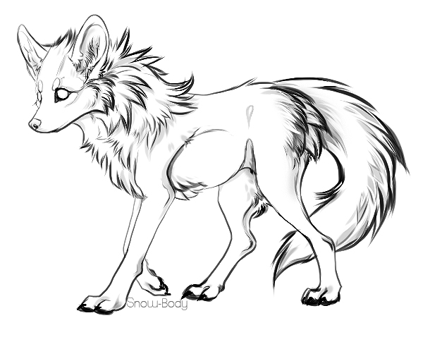 Free to Use Pokemon Images Free_canine_lineart_by_snow_body-d5s3nnu
