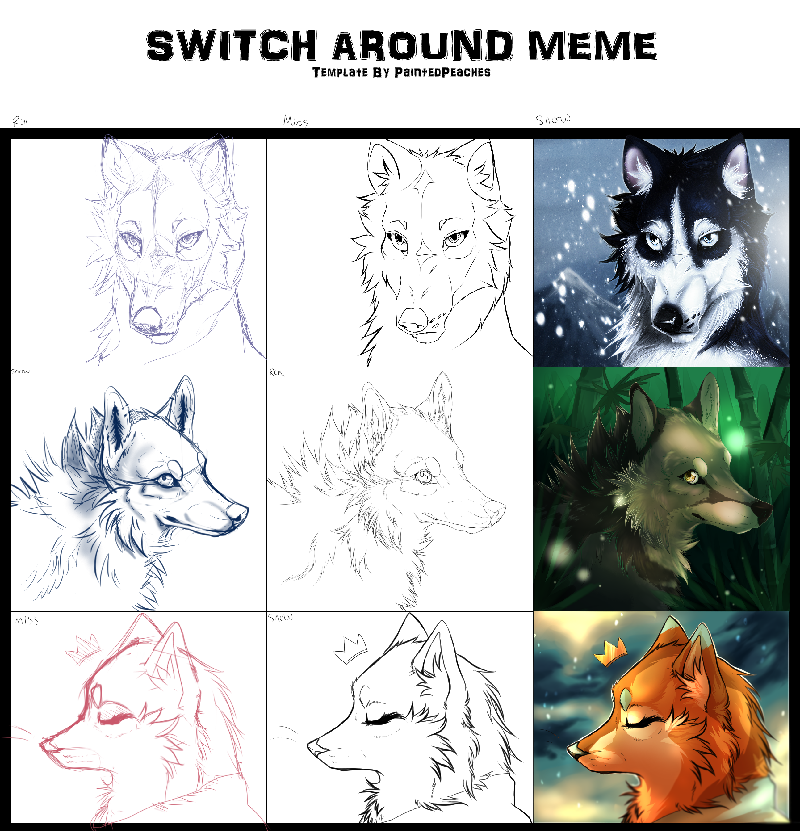 .Switch Around Meme. by Snow-Body