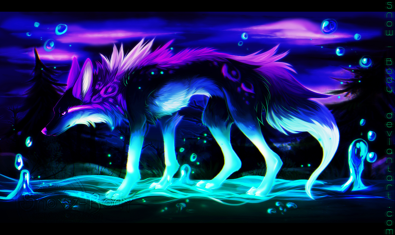 neon fox wallpaper - photo #21