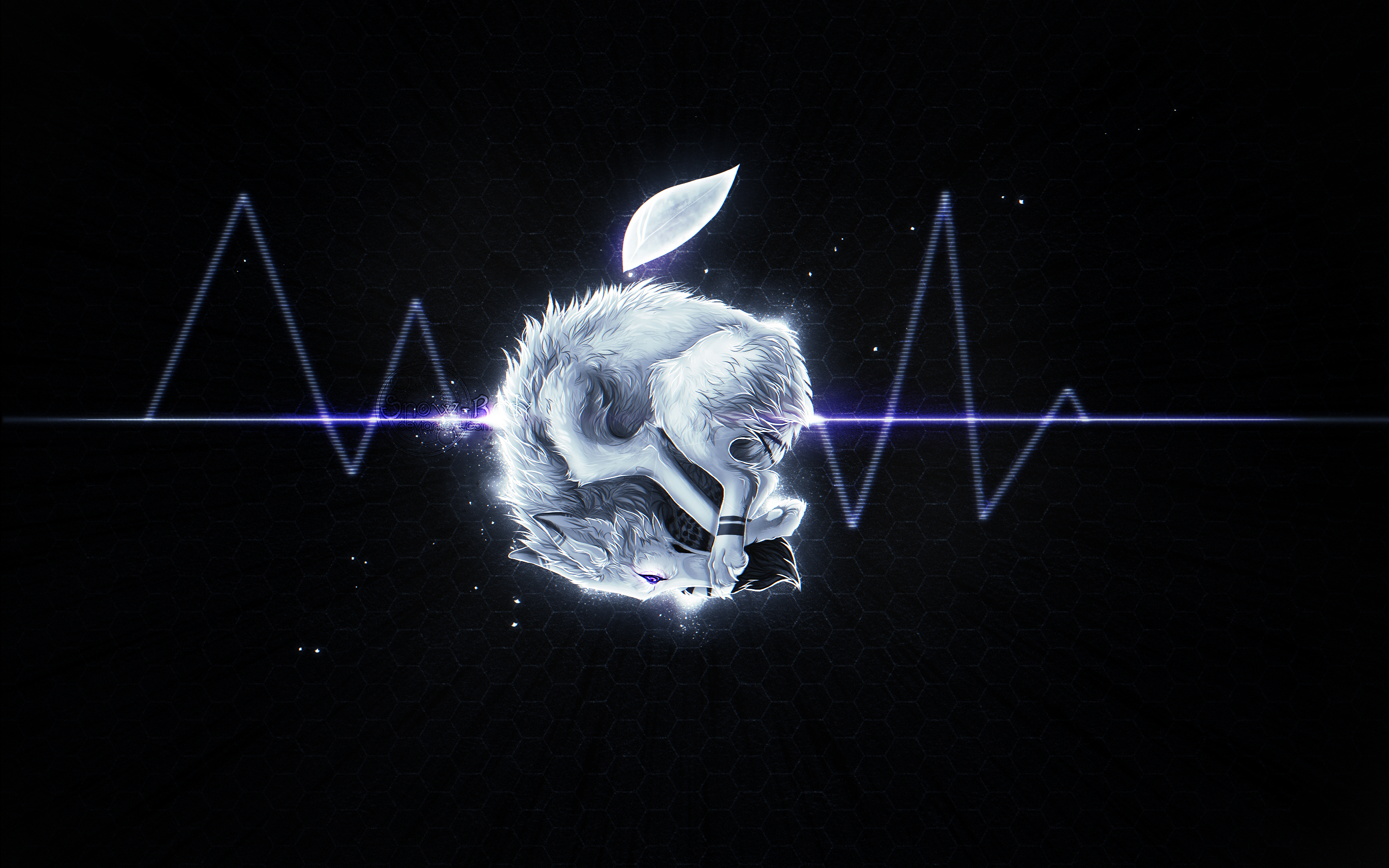 Top Wallpaper Macbook Wolf - k__apple_wolf___speed_paint_by_snow_body-d7htrje  Pictures_934765.jpg