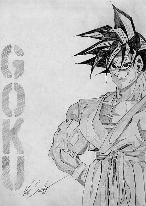 Son Goku Sketch by matrix7